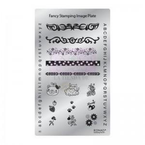 Placa de diseños Fancy. F01 KONAD