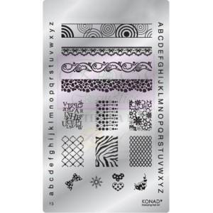 Placa de diseños Fancy. F03 KONAD