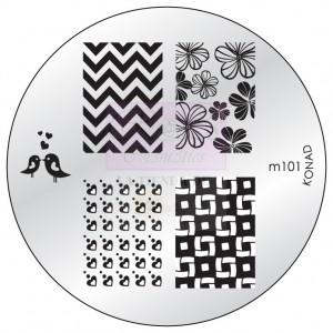 Placa de Diseños Konad m101