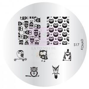 Placa de diseños KONAD. s17