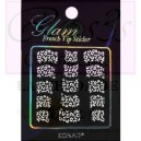 Glam sticker manicura francesa. KGS 08