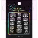 Glam sticker manicura francesa. KGS 09