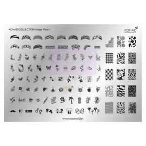 Placa de diseños Colección 1 KONAD