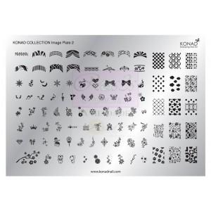 Placa de diseños Colección 2 KONAD