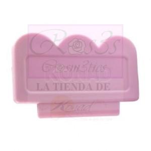 Raspador Rosa con filo de plástico Konad