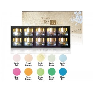 Konad Pro UV Color Gel Set II( colores pastel)