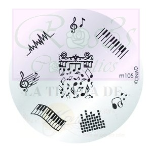 Placa de Diseños Konad. m105