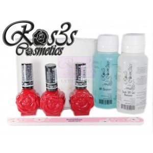 Kit de gel semipermanente Ros3s Básico+ Regalo