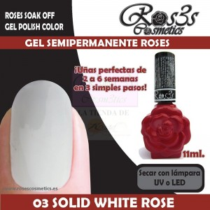 03-Solid White Rose Gel Semipermanente Ros3s