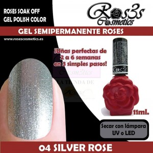 04-Silver Rose 11 ml Gel Semipermanente Ros3s
