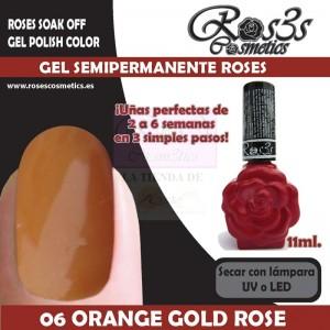 06-Orange Gold Rose 11 ml Gel Semipermanente Ros3s