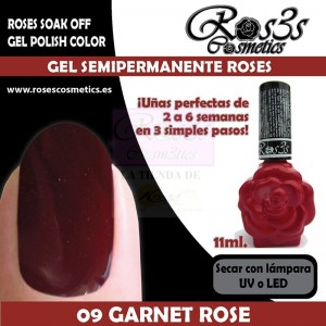 09-Garnet Rose 11 ml Gel Semipermanente Ros3s