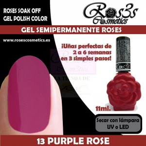 13-Purple Rose 11 ml Gel Semipermanente Ros3s