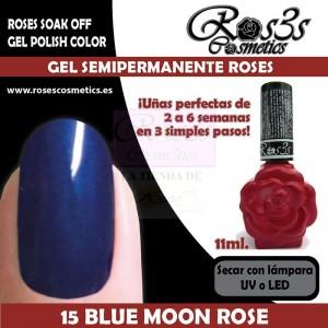 15-Blue Moon Rose 11 ml Gel Semipermanente Ros3s
