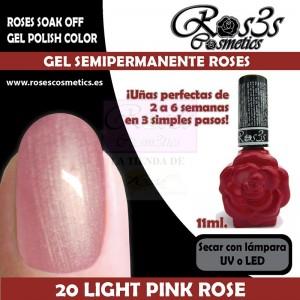 20-Light Pink Rose 11ml Gel Semipermanente Ros3s