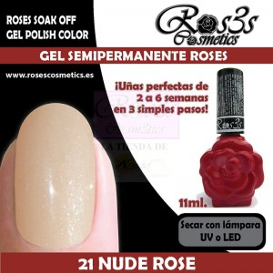 21-Nude Rose 11ml Gel Semipermanente Ros3s