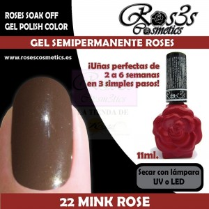 22-Mink Rose 11ml Gel Semipermanente Ros3s