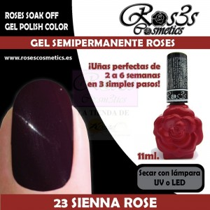 23-Sienna Rose 11ml Gel Semipermanente Ros3s