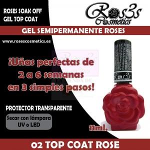 02 Top Coat Rose 11 ml Gel Semipermanente Ros3s