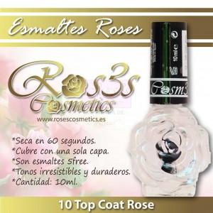 Top Coat de Uñas 10ml- Ros3s Cosmetics