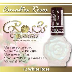 ESMALTE ROS3S: 12  WHITE ROSE