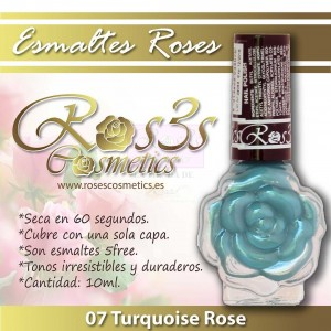 ESMALTE ROS3S 07 TURQUOISE ROSE