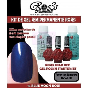 Kit 15 Blue Moon Rose gel semipermanente Ros3s + Regalos