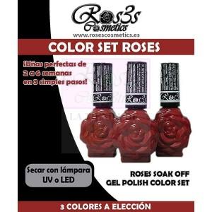 Kit Ros3s 3 Colores de Gel Semipermanente + Regalo
