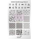 Placa de diseños rectangular Konad. c24