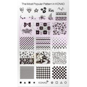 Placa de diseños rectangular. Patrones populares
