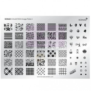 Placa de diseños Colección 4 KONAD