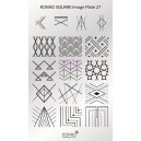 Placa de diseños rectangular Konad. c26