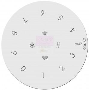 Placa de diseños. m42