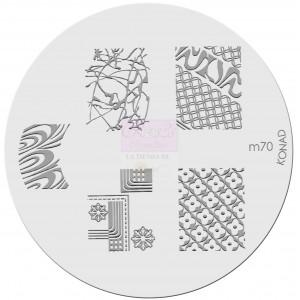 Placa de diseños. m70