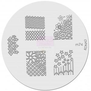 Placa de diseños. m74