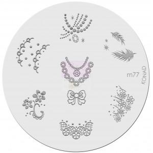 Placa de diseños. m77