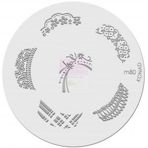 Placa de diseños. m80