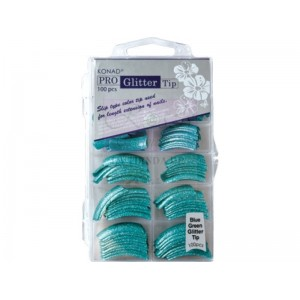 Pro Glitter 100 tip Blue Green