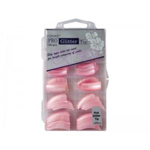 Pro Glitter 100 tip Pink Konad