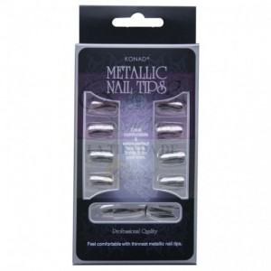 Konad Metallic Nail Tips Silver