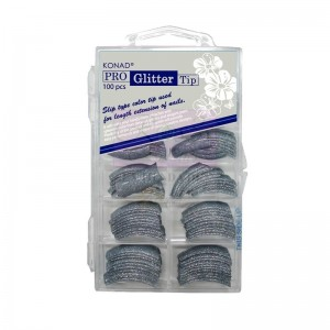 Pro Glitter 100 tip Blue Gray Konad