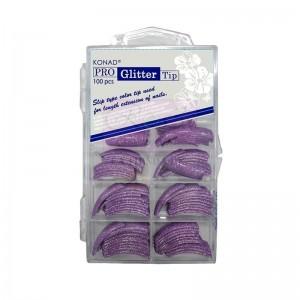 Pro Glitter 100 tip Purple Konad