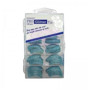 Pro Glitter 100 tip Blue Konad
