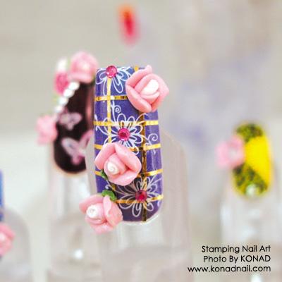 Konad 3D Flower Pink