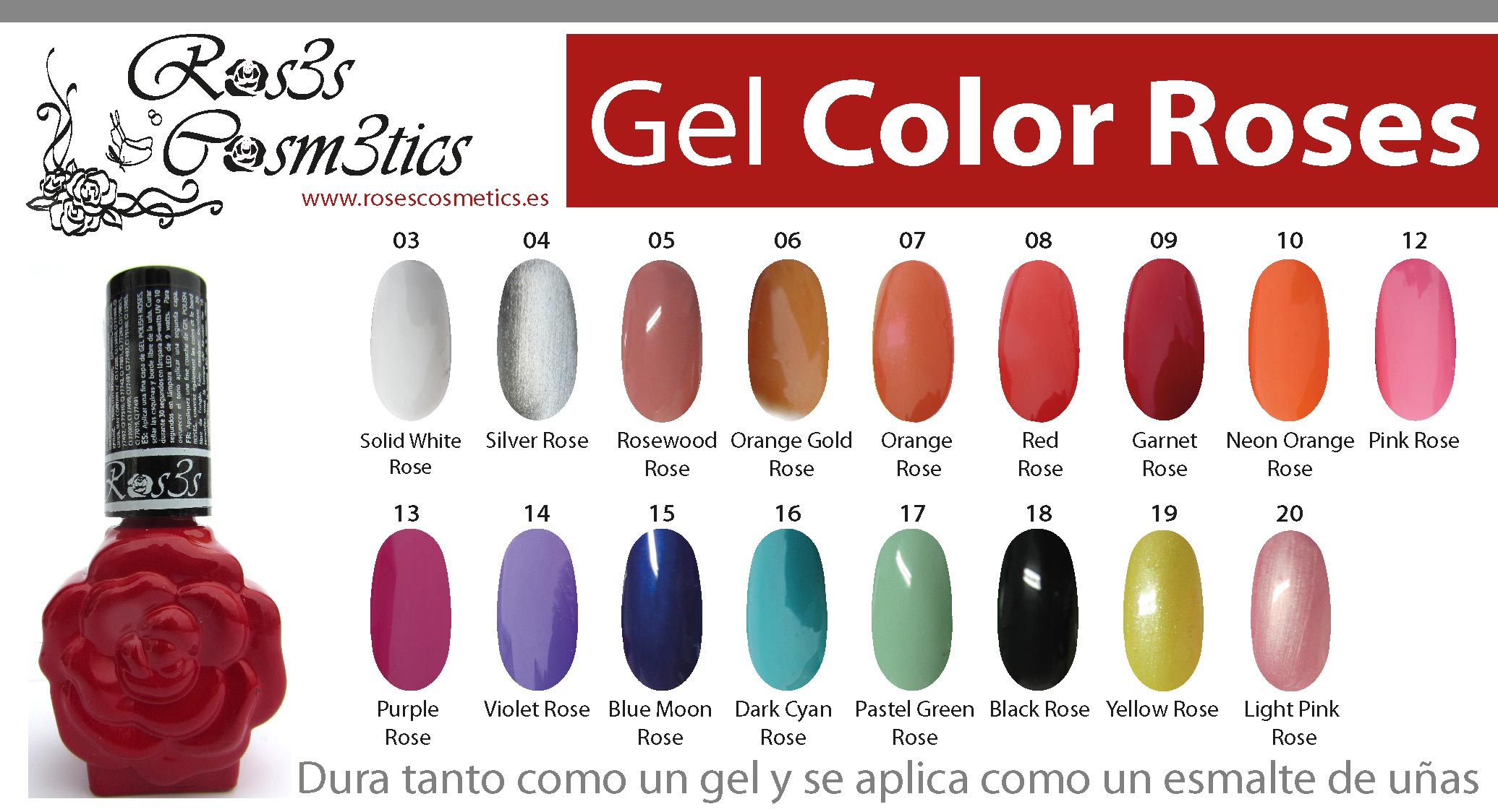color gel ros3s cosmetics