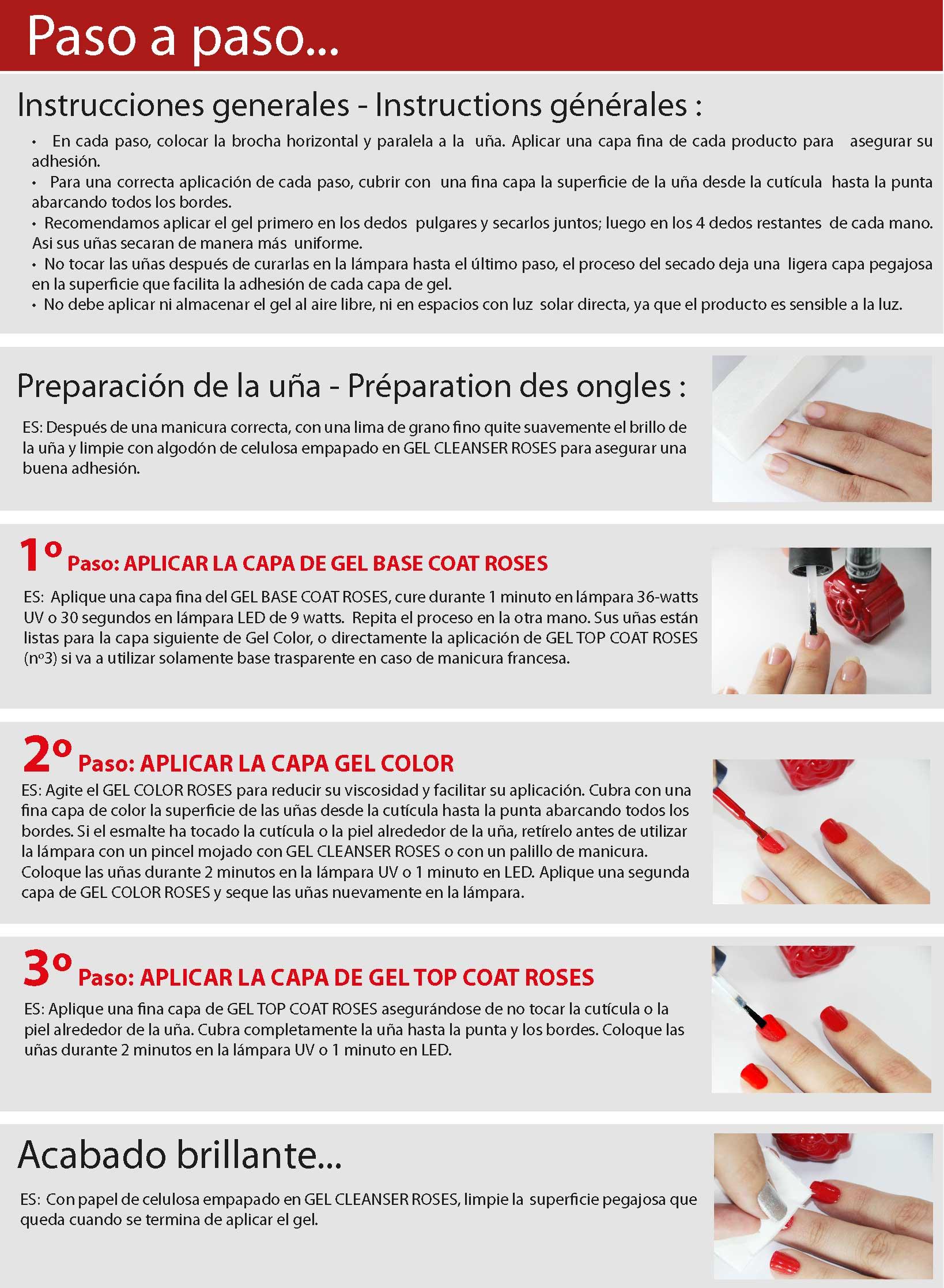 instrucciones gel semipermanente