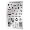 Placa de diseños rectangular. c05