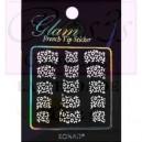 Glam sticker manicura francesa. KGS 08