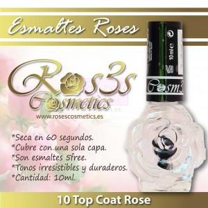Top Coat de Uñas- Ros3s Cosmetics