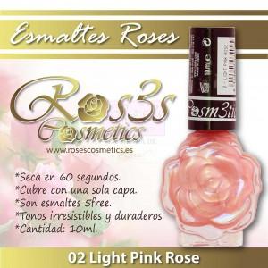 ESMALTE ROS3S: 02 LIGHT PINK ROSE